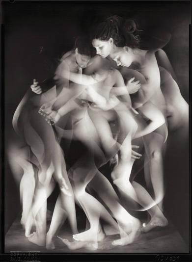 "© Pavel Odvody - Study of Movement, 7x5"", B/W Contact Print"