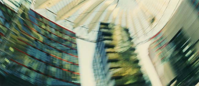 © Gudrun Kemsa - Moving Images - Potsdamer Platz 1, 2001, Color Print, 84 x 198 cm