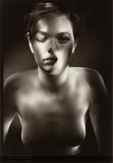 """© Pavel Odvody - Portrait Study, 7x5"""", B/W Contact Print"""