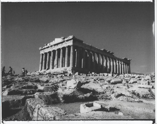 From 'Landscapes - Acropolis, Greece' Series, 1989, Silver Gelatin Print, 12x16""