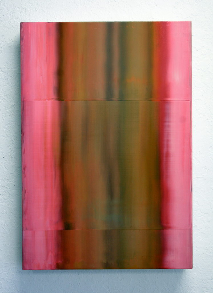 ©Michael Burges - Refraction Painting, 2001, Oil on Wood, 70x50cm