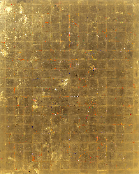 "©Michael Burges Reverse Glass Painting, Acrylic, Gold Leaf, Plexi , Aluminum, 70.9x59"""