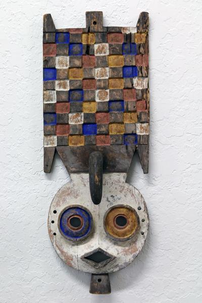 Anonymous Artist, (West Africa)                                                                          Tribal Nwantantay Plank Mask, Decor Burkina Faso