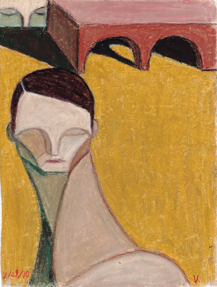 "© Scott Valenzuela - Arches for Eye Lids, Oil Pastels on Paper, 10x8"""