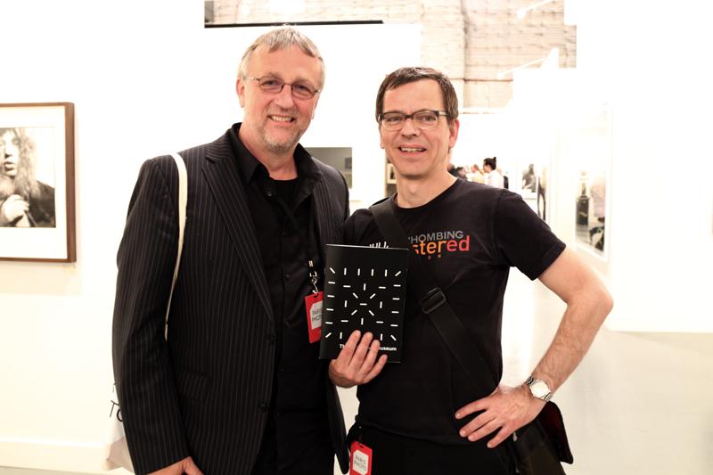 Markus Schaden (right) and Rolf Goellnitz featuring 'The PhotoBookMuseum' Project.