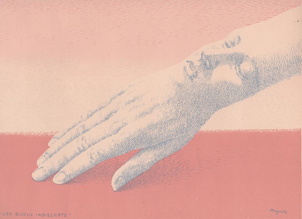 Rene Magritte - Original Lithograph - Les Bijoux indiscrets