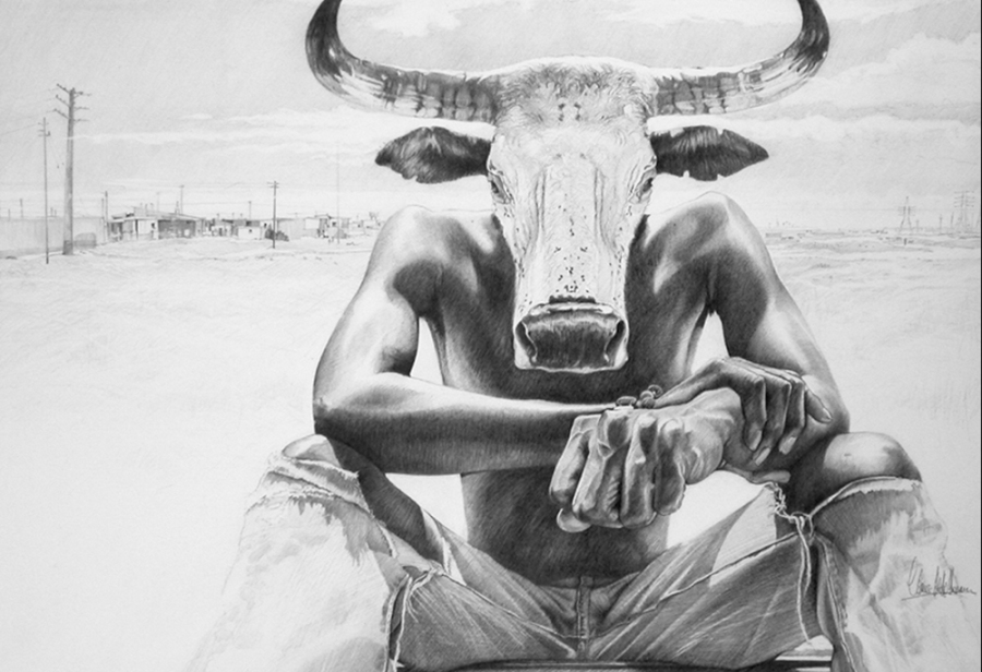 © Claus-Steffen Braun - 'Nguni Head' from Cape Town Series